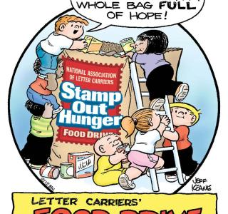 Nalc 23rd anniversary stamp out hunger food drive akron canton