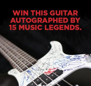 Win this bass guitar